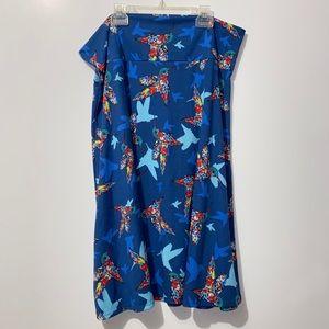 LULAROE Hummingbird Skirt Sz 3XL